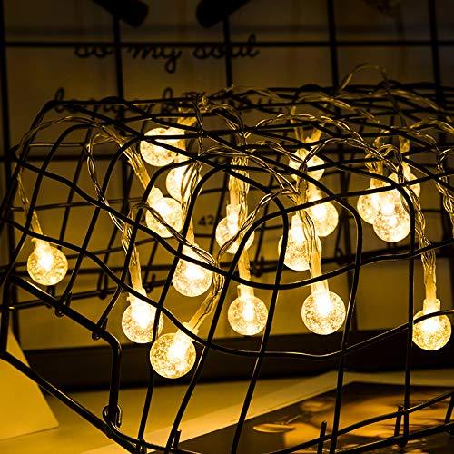 Lichtjes voor slaapkamer, regenbooglicht, voor de tuin, thuis, ledverlichting, waterdicht, kunststof, bol, 4,5 m, 30 lampen
