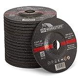 Discos de desbaste, 5 unidades, diámetro 125 x 6,0 mm, para amoladora angular o de corte, disco de lijado, para acero y metal no ferroso