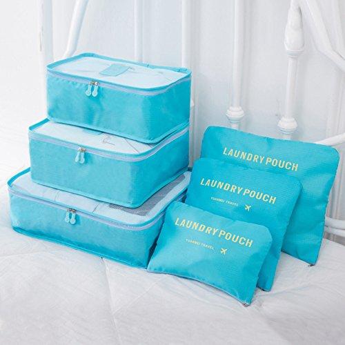 RAP 6 stuks 4 stuks kleding voor thuis reizen, overtrek set schoenen, scheiding, organizer, kledingkast, koffer, pakblokjes