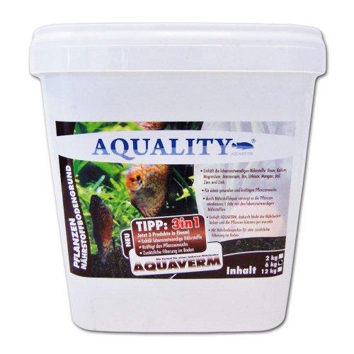 AQUALITY Aquarium Pflanzen Nährstoffbodengrund 3in1 (GRATIS Lieferung in DE - Für alle Aquarien-Pflanzen geeignet. Das Nährstoffdepot versorgt die Pflanzen mindestens 1 Jahr), Inhalt:6 kg