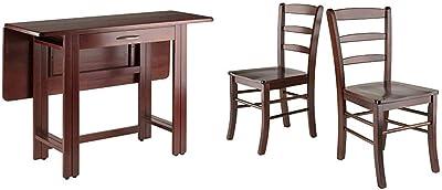 Winsome Taylor Dining, Walnut & Wood Benjamin Seating, Walnut