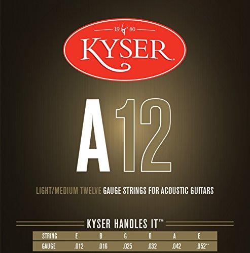 Kyser Acoustic 12's - Light/Medium 12 Gauge Guitar Strings