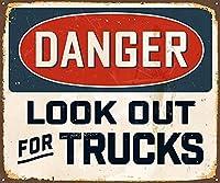 トラックを探してくださいブリキの看板壁の装飾金属のポスターレトロなプラーク警告サインオフィスカフェクラブバーの工芸品