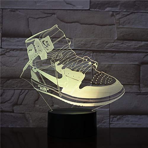 Sanzangtang Led-nachtlampje, 3D-visionzeven, kleurenafstandsbediening, sneakers, sneakers, acryl, nachtlampje, band/kleur afstandsbediening, illusie, verandering, Home Decoration Nachtlampje
