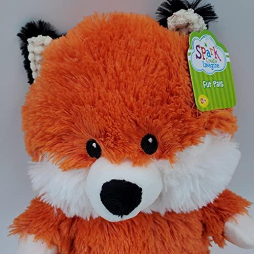 Spark Create Imagine Fox Plush Stuffed Animal Rattle Crinkle Toy