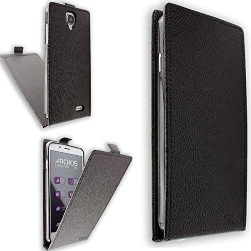 caseroxx Flip Cover für Archos 55 Helium Ultra, Tasche (Flip Cover in schwarz)