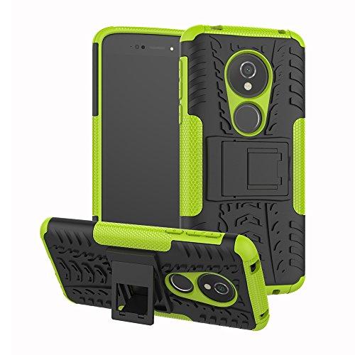 SCIMIN Capa para Moto G6 Play, capa híbrida para Moto G6 Play, camada dupla à prova de choque, resistente a impactos, capa rígida com suporte para Moto G6 Play de 5,7 polegadas