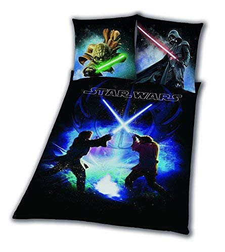 Ropa de cama Star Wars Espada lucha Rey Finn tico Yoda 135 x 200 nuevo WOW – All-in-One de Outlet de 24 de