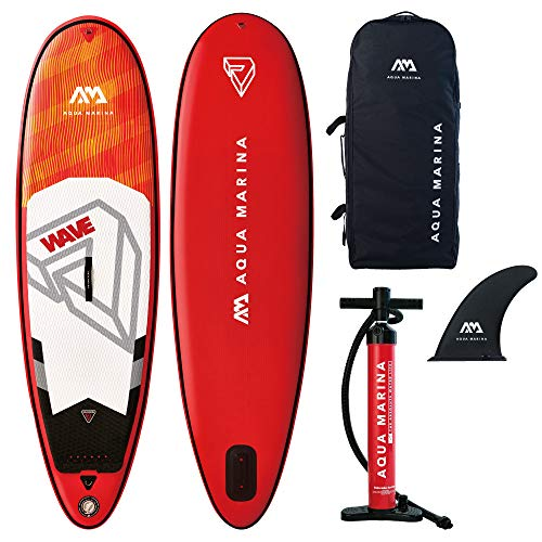 Aquamarina Unisex – Erwachsene Sup Board Wave Tabelle, Rot Orange, Uni