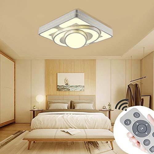 Deckenlampe LED Deckenleuchte 48W Wohnzimmer Lampe Modern Deckenleuchten Kueche Badezimmer Flur Schlafzimmer (Weiß, 48W-Dimmbar)