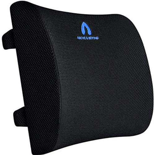 Back Support Pillow - Memory Foam Back Cushion for Back Pain Relief - Ideal Lumbar Support Pillow for Office Chair, Car Seat, Gaming Chair, Wheelchair