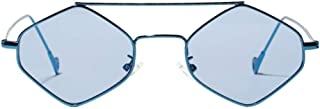 YZCX - Gafas de Sol para Mujer Gafas de Sol con Lentes Transparentes de polígono de Montura pequeña Gafas de Sol con Montura de Metal Hexagonal para Hombres