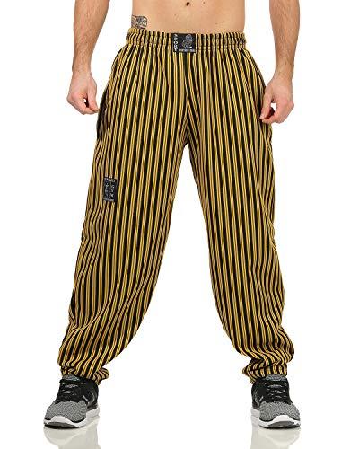 HH158: pantaloni ideali per il tempo libero per il fitness e il bodybuilding. Elastico in vita con coulisse per una vestibilità regolabile, per una vestibilità comoda in ogni occasione. Tasche laterali. Orlo gamba senza polsini. I pantaloni per il te...