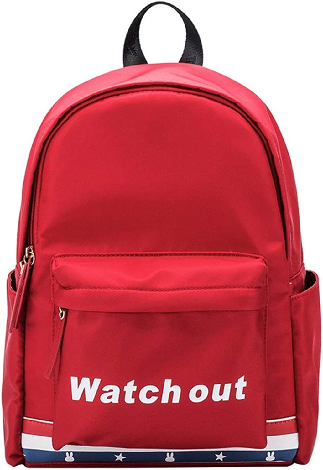Women's New Double Shoulder Bag Girls School Bag College Trend Wild Fashion Campus Student Travel Backpack forFemale (color   Red, Size   25.5cm12cm38cm)