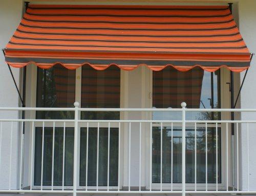 Angerer Klemmmarkise Dralon Nr. 6100, Orange, 300 cm