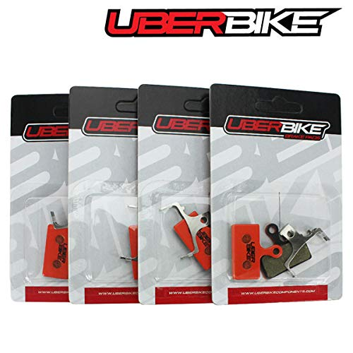 Uberbike Shimano SLX M7100 M7000 M675 M666 Deore M6000 M615 Kevlar - Pastillas de Freno (4 Pares)