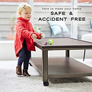 Edge & Corner Guard Set – EXTRA Long 22.0ft Coverage Incl 8 PRE-TAPED Corners - Coffee Brown - Sharp Edges Furniture Protectors, Childproof Cushion Protection - Door Slammer Guard Included