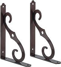 Plankhouder voor wandmontage, plankhouder, metaal, om op te hangen, houder met rechte hoek, met schroeven, 2 stuks (200 mm...