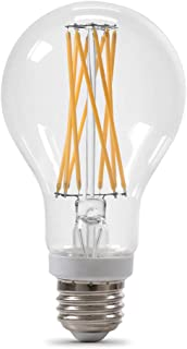 Feit Electric BPA19100CL927CAFI2RP 15W 100W Equivalent Clear Dimmable 1500 Lumen 2-Pack A21 LED Light Bulb, 4.5