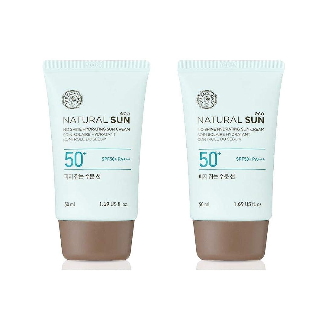 あざ使役に勝るザ?フェイスショップネチュロルソンエコフィジーサン?クリームSPF50+PA+++50ml x 2本セット韓国コスメ、The Face Shop Natural Sun Eco No Shine Hydrating Sun Cream SPF50+ PA+++ 50ml x 2ea Set Korean Cosmetics [並行輸入品]