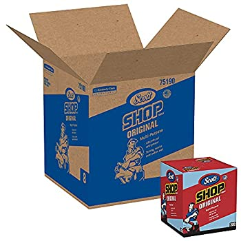 Scott Shop Towels Original  75190  Blue Pop-Up Dispenser Box 200 Towels/Box 8 Boxes/Case 1,600 Towels/Case