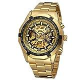 Forsining, orologio analogico da uomo con cinturino in acciaio inox, formale, con quadrante rotondo, codice FSG8042M4G3