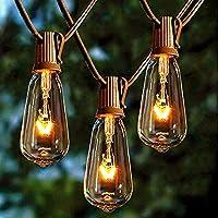Afirst Outdoor 20Ft String Lights with 20 Edison Bulbs Vintage Bistro String Lights