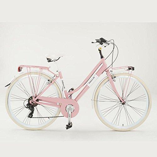 Fahrrad Summer velomarche Damen mit Rahmen aus Aluminium, Rosa, 46 cm