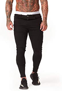 Sponsored Ad - AmourCouture Ripped Skinny Jeans for Men Super Stretchy Distressed Slim Fit Fashionable Pants
