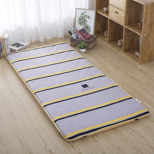 JIARUN Foldable Tatami Mattress Mat, Breathable Futon Floor Mat Sleeping Pad Mattress Topper Cover Japanese Rolled Up For Travel Picnic Home Dorm-k 80x190cm(31x75inch)