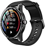 Smart Watch for Android & iPhone, LCW Fitness Tracker Sports Wrist Phone w/Music Player, Heart Rate Monitor, Blood Oxygen Meter, Sleep Tracking, IP67 Waterproof, Pedometer, Smartwatch for Men Women