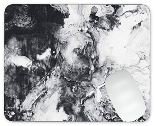 Abstract Hand Painted Black and White Background Mouse pad Gaming Mouse pad Mousepad Nonslip Rubber Backing