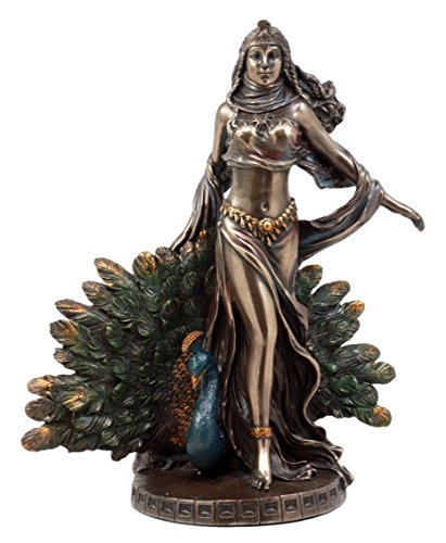 Ebros Gift Roman Juno Greek Goddess Hera with Sacred Peacock Statue Deity of Marriage Fertility & Women Decorative Figurine