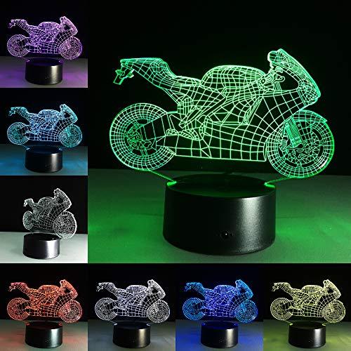 Motor Car Motorräder Acryl Tag Nacht Licht 3D LED Tischlampe Kinder Geburtstagsgeschenk Nachtzimmer Dekoration
