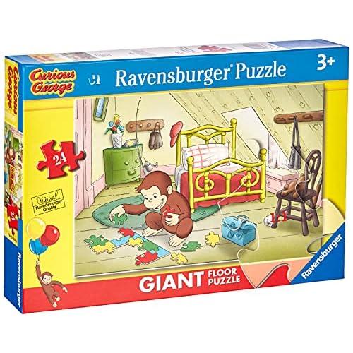 RAVENSBURGER PUZZLE-03046 0 Curious George Puzzle 24 Giant Pavimento, 03046 0