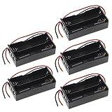 ESden 5 piezas 18650 batería recargable 3,7 V Clip Holder Caja Caja con cable