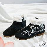 RHH Shop Flor Bordado Botines Botines Planos Botas De Tobillo Cómodo Invierno Botas Negras con Zapatos De Gran Tamaño (Color : Model 4, Size : 37 EU)