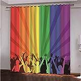 YMLJH Cortinas de Ventana Vítores de Color Cortina Opaca Anti Ruido Ojales para Salón, Dormitorio y Habitación 2 x 117x138cm(An x Al)