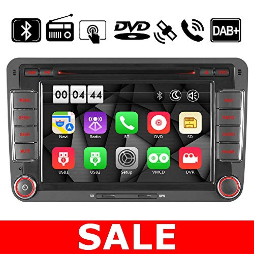 "7"" 2Din Autoradio Navi DVD GPS Radio Navigation Für VW Passat B6 Golf 5 6 V VI Touran Tiguan Multivan T5 Polo Jetta Caddy Skoda Seat Altea Unterstützt DAB BT Boot Logo Wallpaper Mirrorlink VMCD V3"