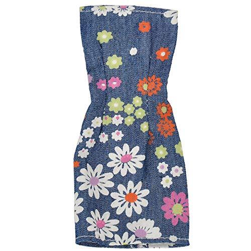 GIVBRO Ropa de muñeca de moda vestido de mezclilla para muñecas de 11.5 pulgadas de 30 cm de muñeca accesorios de traje tubo superior bolsa cadera falda trajes