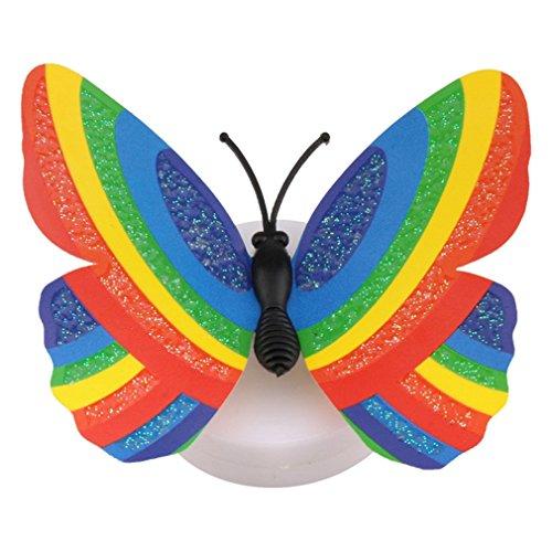 VXYUSF Kreative niedliche 3D-Schmetterling LED-Licht Farbe ändern Nachtlicht Home Room Desk Wanddekoration für Schlafzimmer zufällige Farbe