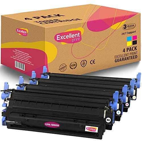 Excellent Print Q6000A Q6001A Q6003A Q6002A 124A CRG-707 compatibele tonercartridge voor HP Colour Laserjet 1600 2600 2600n 2605dn 1 SET Meerkleurig