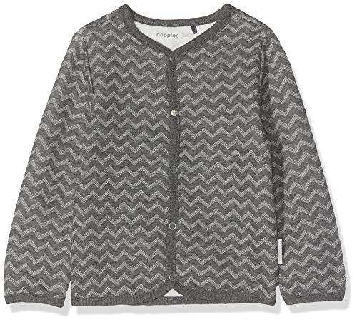 Noppies Baby-Unisex U Cardigan ls Quanzhou Strickjacke, Grau (Grey Melange P203), (Herstellergröße: 80)