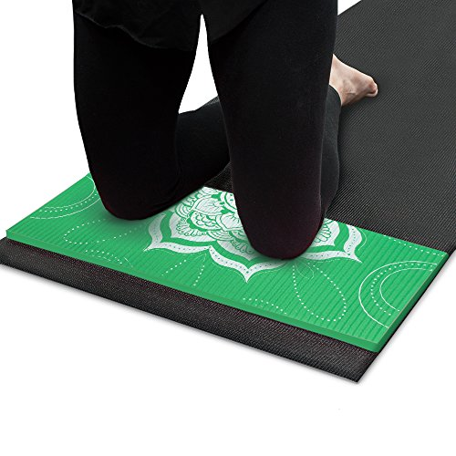 Crown Sporting Goods 1/2 pulgadas (15 mm) Chakra Art Yoga Rodillera y Codera (Meadow)