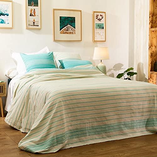 LA MALLORQUINA Colcha - Niza (Cama 135cm - 225x260cm - Crudo) | Colcha de Verano y Entretiempo Multiusos de Diseño