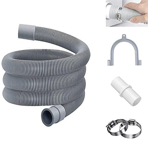 Tubo per lavatrice,Tubo di scarico,Tubo di Scarico per Lavatrice,Tubo di scarico per lavatrice e lavastoviglie Prolunga per tubo di scarico (2M)
