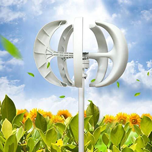 Windgenerator vertikal mit Kontrolleur 5 Blätter Weiße windkraftanlage solarpanel windkraft Turbine generator 24V 600W