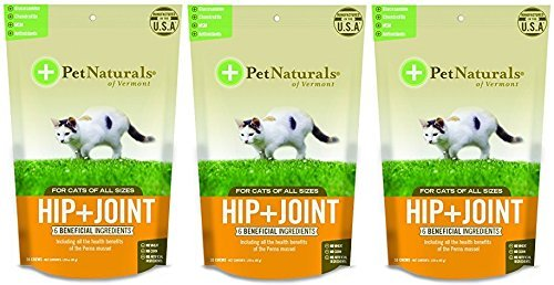 (3 Pack) Pet Naturals of VT Hip + Joint Supplements for Cats