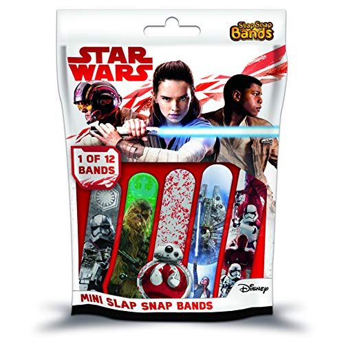 CRAZE Slap SNAP Bands Star Wars VIII Schnapparmbänder für Jungen Kinder-Schmuck Armband zum Sammeln 59068, Buntes Klatscharmband