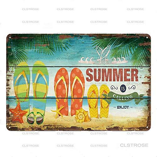 Carteles De Metal Cartel De Placa Vintage Decoración De Pared Summer Beach Plaque Surf Club Hawaii Party Club Pub Bar Decoración California